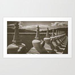 Garden of 1000 Buddhas Art Print