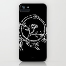 White Ouroborous  iPhone Case