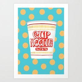 cup noodle Art Print