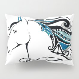 Andalusian Equine Tribal Ink & Marker Art Pillow Sham