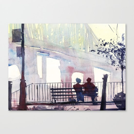New York - Douce lumiere Canvas Print