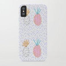 Pineapple. Illustration, print, pattern, fruit, design, fun, Slim Case iPhone X