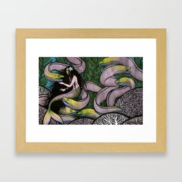 Mermaid and Seven Eels Framed Art Print