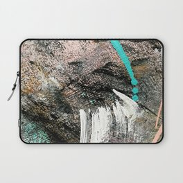 (Un)Tamed [2]: a vibrant, colorful abstract piece in pink, teal, black and white Laptop Sleeve