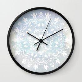 pastel lace design Wall Clock