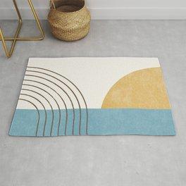 Sunny Ocean Horizon Rug