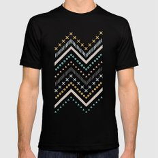 Mixed Zig Zag - in Marigold Black MEDIUM Mens Fitted Tee