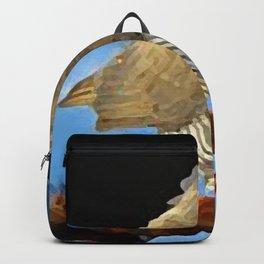 painting of goshawk  Backpack