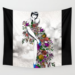 Garden Dress Wall Tapestry