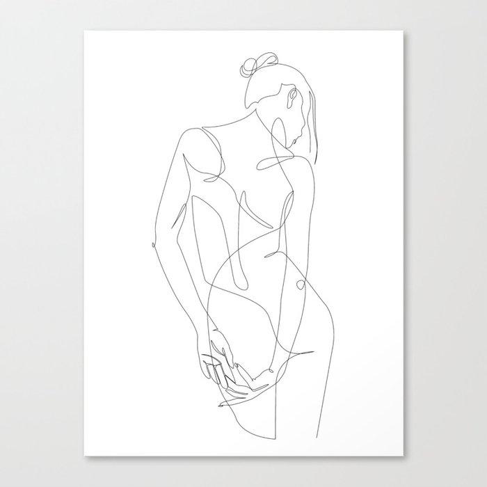ligature - one line art Leinwanddruck