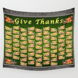Give Thanks Wall Tapestry