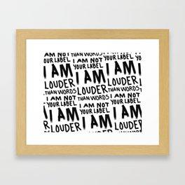 Louder Than Words - 90s ALT GRAHICS Framed Art Print