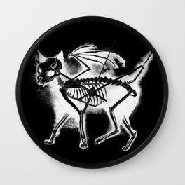 Devil Kitty - inverted Wall Clock