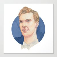 cumberbatch Canvas Prints featuring Cumberbatch by Megan Diño