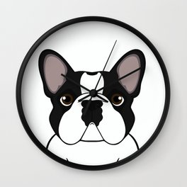 Frenchie - Brindle Pied Wall Clock