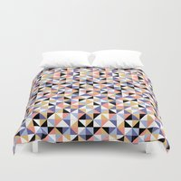 90s Duvet Covers featuring 90s geometrics by Lily Mitchell