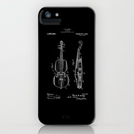 Violin Patent iPhone Case
