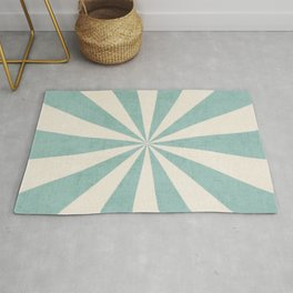 robins egg blue starburst Rug