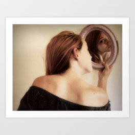 G is for gazing through the glass. Art Print