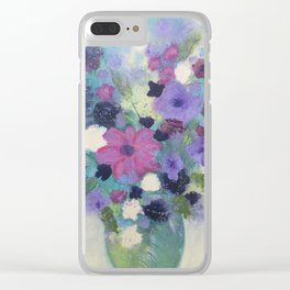 Spring Flower Bouquet Clear iPhone Case