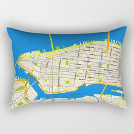Manhattan Map Design Rectangular Pillow