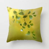 fern Throw Pillows featuring Fern by Mandy Disher