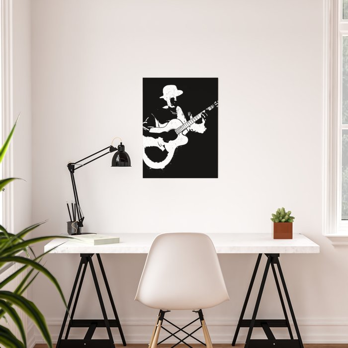 Musician playing Poster