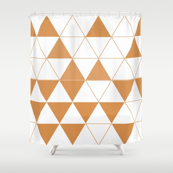 Geometric DC Shower Curtain