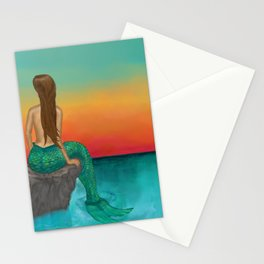 Siren Sunset Stationery Cards