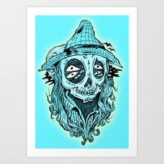 scared crow Art Print