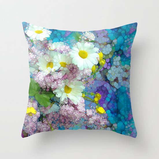 She comes in colors Throw Pillow