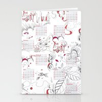 calendar Stationery Cards featuring Calendar mess by Dreamy Me