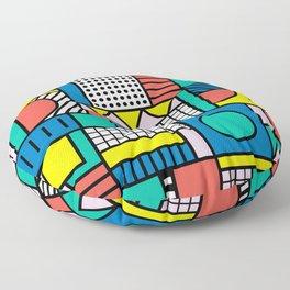 Memphis Color Block Floor Pillow