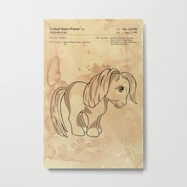 g1 my little pony patent inspired poster Metal Print