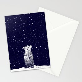 Polar Bear in a Snow Storm Stationery Cards
