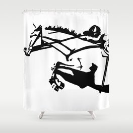 jumping horse Shower Curtain