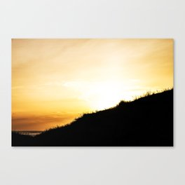 Sun is going down Canvas Print