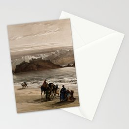 Vintage Print - The Holy Land, Vol 3 (1843) - The island known as Graia, in the Gulf of Akabah Stationery Cards