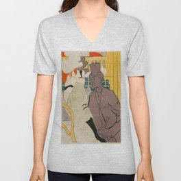 Vintage poster - Englishman at the Club Unisex V-Neck