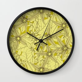 deadly nightshade chartreuse Wall Clock