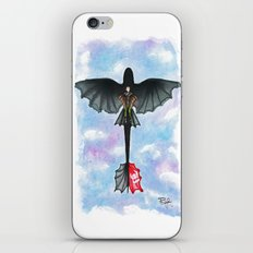 Hiccup and Toothless Flying from How to Train your Dragon 2 iPhone & iPod Skin