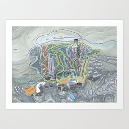Camelback Mountain Resort Trail Map Art Print