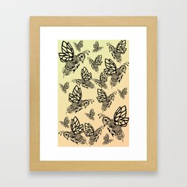 Honey Bee Pattern Framed Art Print