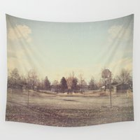 parks and recreation Wall Tapestries featuring When Parks Were a Thing by Jane Lacey Smith