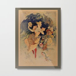 Comedy Theater 1900 by Jules Chéret Metal Print