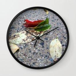 Turn a new leaf Wall Clock