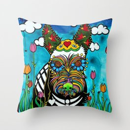 Buster the Schnauzer Throw Pillow