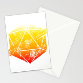 d20 Tequila Sunrise Stationery Cards