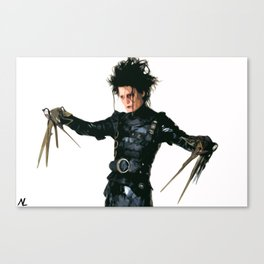 Edward Scissorhands Illustration Tim Burton Film Johnny Depp Movie Pop Art Horror Home Decor Canvas Print