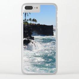 Hawaiian Vibes Clear iPhone Case
